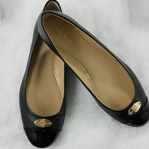 Coach Ashley sz 8.5 lambskin/patent leather flats